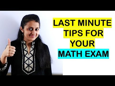 LAST MINUTE TIPS AND TRICKS FOR YOUR MATH EXAM/ MATHS EXAM TIPS
