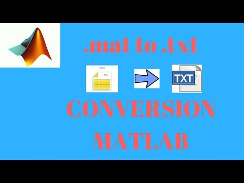 .mat format to .txt conversion in MATLAB