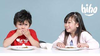 Kids Try Indian Food | Kids Try | HiHo Kids