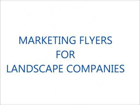Grow Your Landscape Business With Marketing Flyers