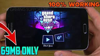 GTA VICE CITY lite now run in All Android device || Just 80