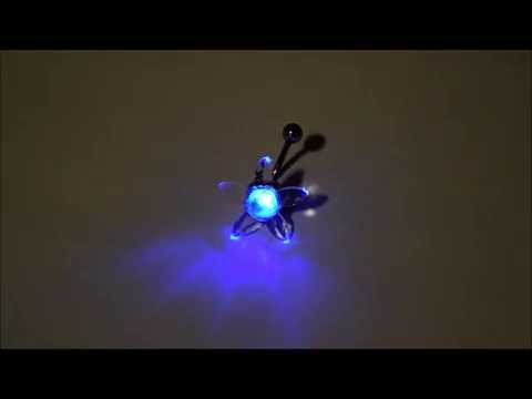 LED - RGB Light up Flower Belly Button Navel Ring