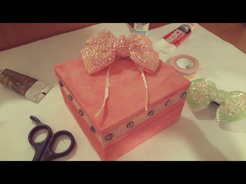 DIY Crafts: How To Decorate a Jewelry Box | How To Make |DIY Jewelry Box