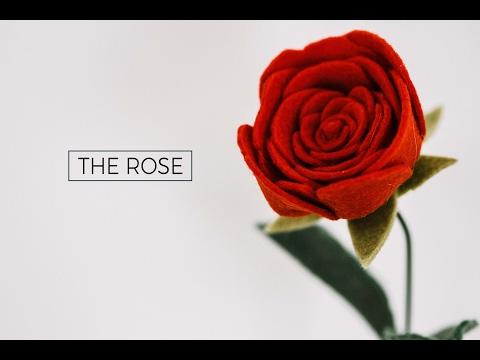 Felt Flower Tutorial DIY: A ROSE (simple + easy!) A Flower Making DIY How-To Video
