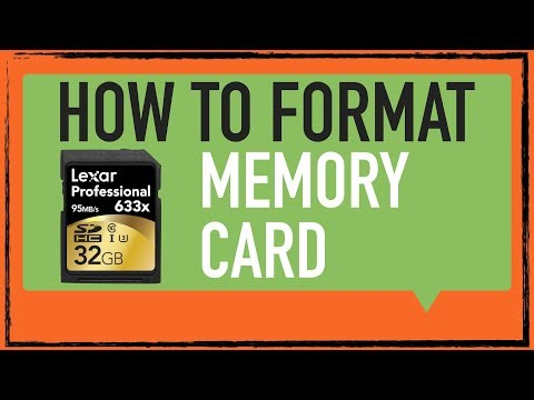 How to format a memory card: Digital camera tip