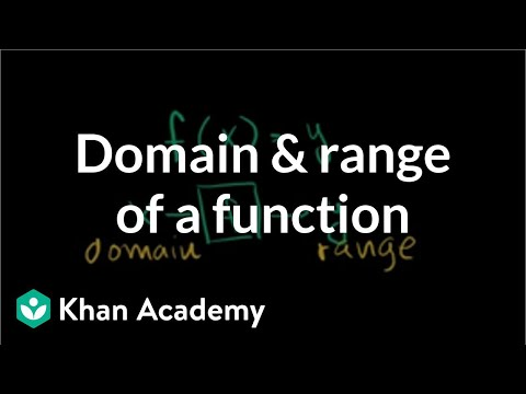 Domain and range of a function | Functions and their graphs | Algebra II | Khan Academy