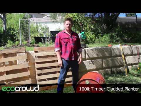 How to Make a Planter from a 44 Gallon Drum & Timber Pallet