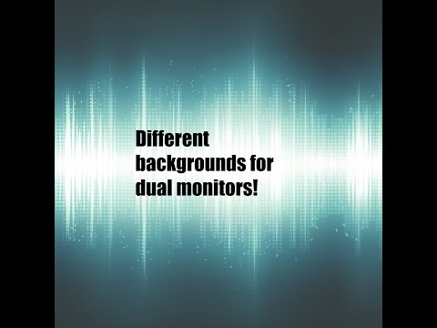 How to get two different backgrounds for dual monitors!