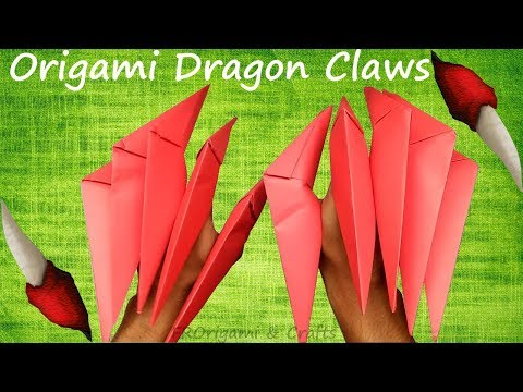 How To Make Origami Dragon Claws || Very Easy Paper Dragon Claws || Paper Nails