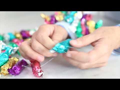 DIY Candy Wrapper Garland