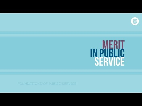 Merit in Public Service