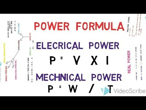 power calculation formulas/ac power/dc power/mechnical power