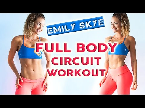 Emily Skye FULL CIRCUIT WORKOUT - do it with me!