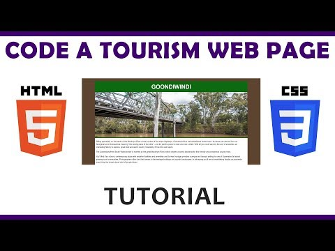 Code a Tourism Web Page Using HTML & CSS