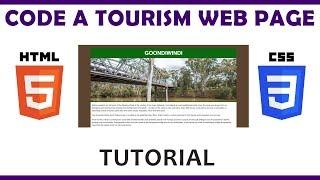 Code a Tourism Web Page Using HTML \u0026 CSS