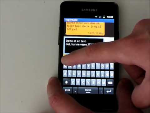 Samsung Galaxy S2 - Keyboard and Messaging