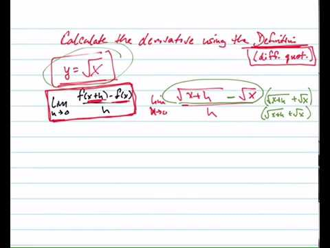 Use the difference quotient to find the derivative of sqrt x