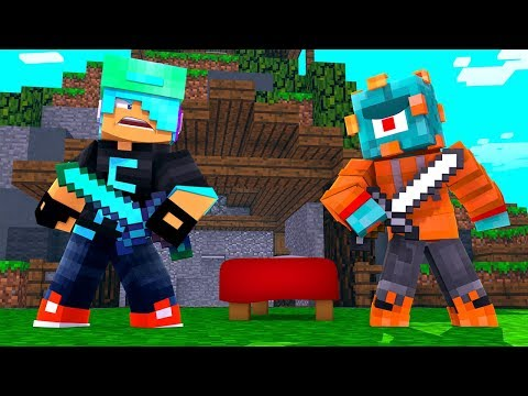 Chad VS Ryan VS Hacker! Minecraft Bed Wars Game