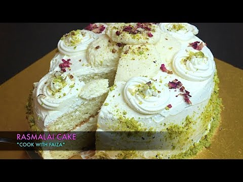 RASMALAI CAKE *COOK WITH FAIZA*
