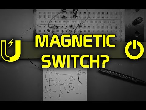 How to Use a Magnet as a Latching Electronic Switch 🔴