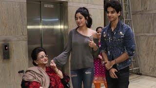 Jhanvi Kapoor & Ishaan Khattar SEEK BLESSINGS from Daadi Nirmal Kapoor before Dhadak Release