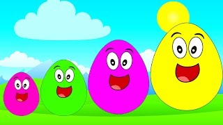 Surprise Eggs POU Learn Sizes from Smallest to Biggest Opening Eggs with Toys Kids Movies