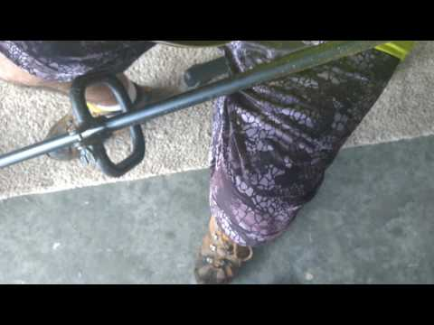 How to refill the trimmer line spool on a homelite weedeater