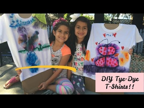 DIY Tie Dye T-Shirts for Kids or Adults | EASY!!