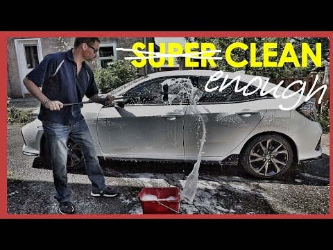 HOW TO WASH YOUR CAR IN 10 MINUTES (2017 HONDA CIVIC)