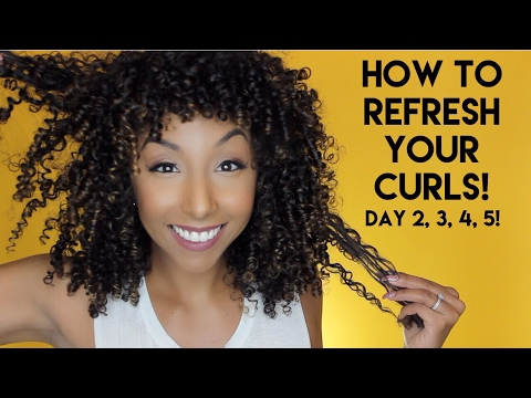 How To Refresh Your Curls! Day 2, 3, 4, 5 Curls! | BiancaReneeToday