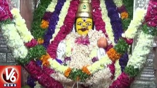 Devi Navaratri Utsavalu 3rd Day : Devotees Throng To Vemulawada Rajanna Temple | V6 News