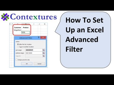 How to Set Up an Excel Advanced Filter