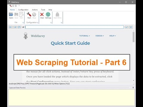Web Scraping Tutorial using WebHarvy - How to follow multiple links in a page and extract data ?