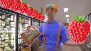 Download 1 Hour of Blippi Educational for Toddlers | Learn Fruit for Kids and More! Video