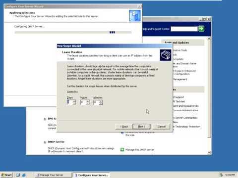 how to configure DHCP Server (Windows Server 2003 EE)