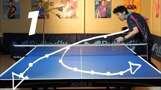 Best Table Tennis Serves Tutorial. (Pt 1: backspin, hook) --- TOMORROW TABLE TENNIS