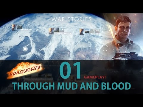 Battlefield 1 Campaign: 01. Through Mud And Blood - Gameplay Walkthrough Playthrough