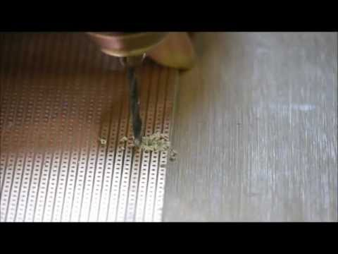 How to cut the copper on Stripboards