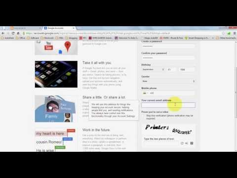 how to create Email ID or how to create new email ID using Gmail (In Emglish )