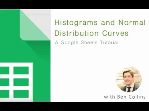 Histograms and Normal Distribution curves in Google Sheets