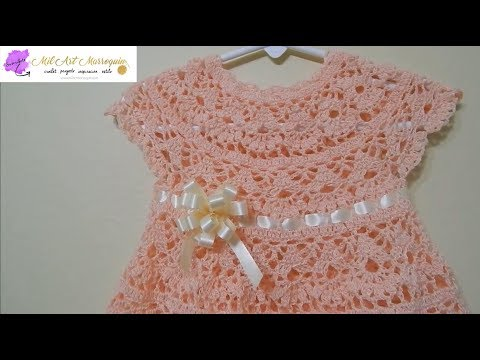 How to Crochet A Baby Dress Any Size -- Part 1