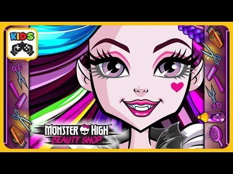 Monster High Модный салон Клодин Вульф * Макияж, прически и наряды для Монстер Хай
