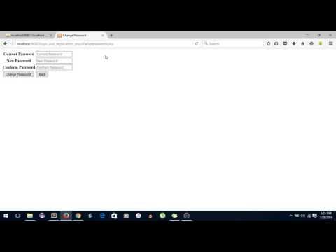 Login and Registration PHP MYSQLI Part 10 Change Password