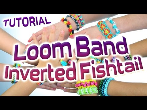 Loom Bands Instructions - How to make a Inverted Fishtail Loom Bracelet