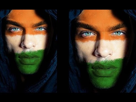 How to Paint Flag on Face in Photoshop