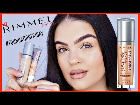 NEW Rimmel Lasting Finish 25HR Breathable Foundation REVIEW