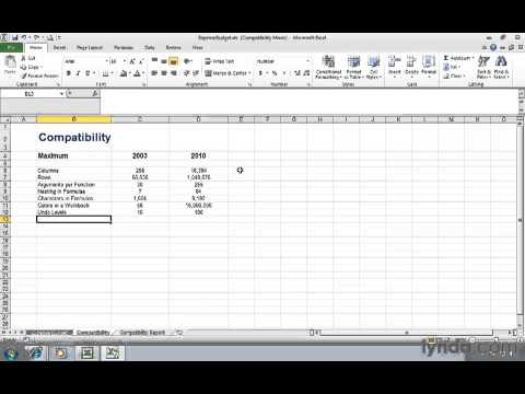 0204 Managing Excel 2003 files in Compatibility Mode