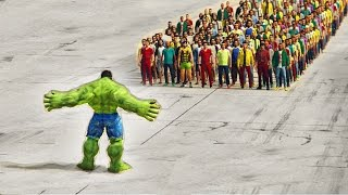GTA 5 - Who Would Win, 100 People Or Some Green Dude?