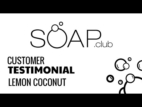 Lemon Coconut Natural Soap - Video Review | Soap.Club