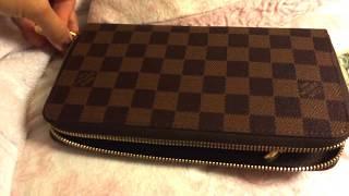 4623cdc282eb Louis Vuitton ZIPPY ORGANISER wallet  DAMIER EBENE